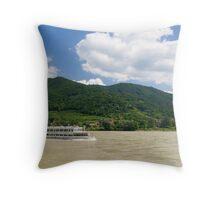 Blue Danube Throw Pillow
