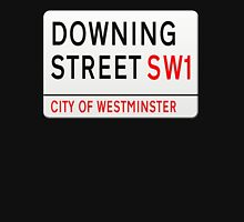 Downing Street London Street Sign Womens Fitted T-Shirt
