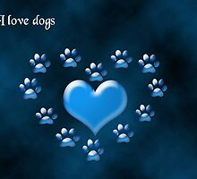 I Love Dogs by saleire