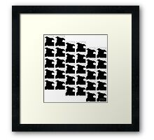 Staffy Dog Head is on repeat Framed Print