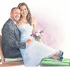 Newlyweds watercolor by Mike Theuer