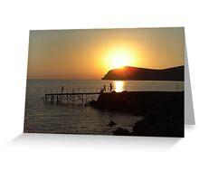 Sunset on Lesvos Greeting Card