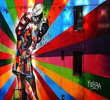 The New York Colourfull Kiss by magicmushroom17
