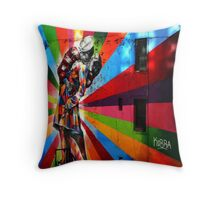 The New York Colourfull Kiss Throw Pillow