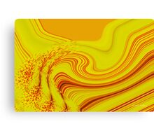 The Flow of Yellow Canvas Print
