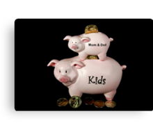 Family Finance Canvas Print
