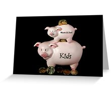 Family Finance Greeting Card