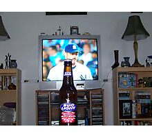 Beer N' Yankees Baseball Photographic Print