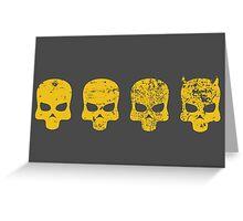 Payday 2 DeathWish Skulls Greeting Card