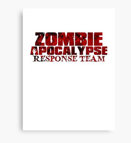Zombie Apocalypse Team Canvas Print
