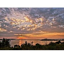 Croatian Sunset Photographic Print