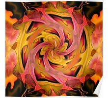 Organtic Fire Tunnel Poster