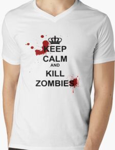 Keep Calm and Kill Zombies Mens V-Neck T-Shirt