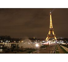 Fountains by the Eiffel Tower Photographic Print