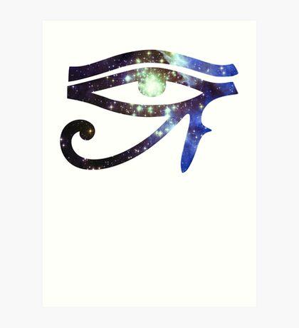 Kid Cudi Galaxy [Blue] | Eye of Ra [Eye of Horus] Art Print