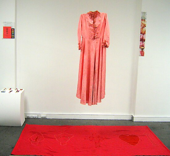 'Mourning Gown For The Bringer of Death' studio installation by ellejayerose