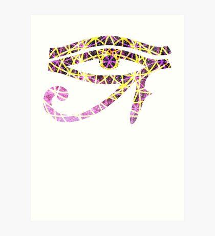 Pink Flower of Life | Eye of Ra [Eye of Horus] Art Print