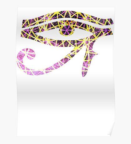 Pink Flower of Life   Eye of Ra [Eye of Horus] Poster