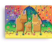 Pinata Party Ponies Canvas Print