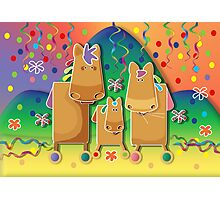 Pinata Party Ponies Photographic Print