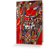 Masai Jewellery Greeting Card