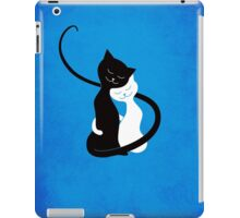 Blue White And Black Cats In Love iPad Case/Skin