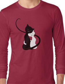 Red White And Black Cats In Love T-Shirt