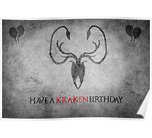 Game of Thrones Birthday Card: Cracking/Kraken Poster
