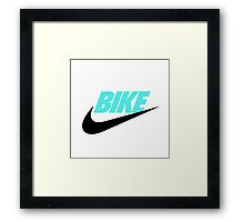 FIXED BIKE & NIKES Framed Print