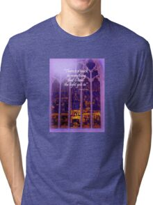 The Light Comes in Tri-blend T-Shirt
