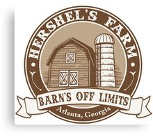 Hershel's Farm Canvas Print