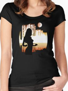 hmn.. pleasures... Women's Fitted Scoop T-Shirt