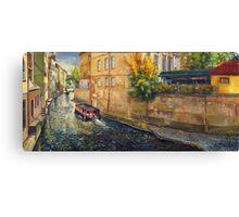 Prague Venice Chertovka Canvas Print