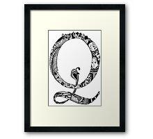Monogram Letter Q Framed Print