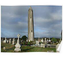 Kilmacduagh round tower Poster