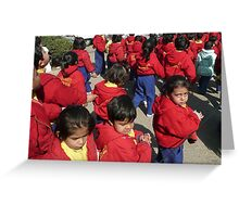 Children in Jaipur Greeting Card