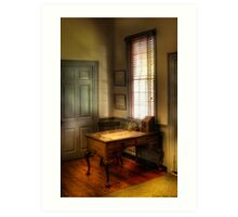 Desk by the window Art Print
