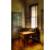 Desk by the window Photographic Print