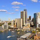 "Sydney Harbour Panorama 70"" x 10"" 20 images by DavidIori"