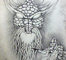 original concept of dragon reaching forward by JP100