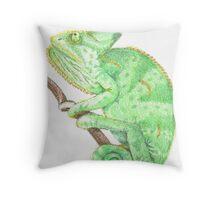 Chameleon Chillin' Throw Pillow