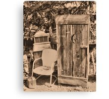 """OUTHOUSE AND.....NEXT IN LINE""... prints and products Canvas Print"