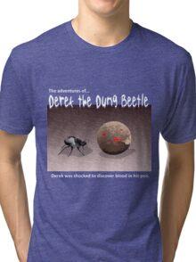 Derek the Dung Beetle 2 for dark T-shirts Tri-blend T-Shirt