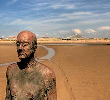 Iron Man looking out to sea by Charles Howarth