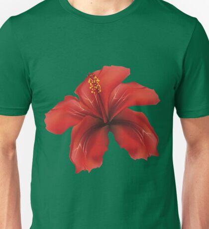 Red hibiscus Unisex T-Shirt