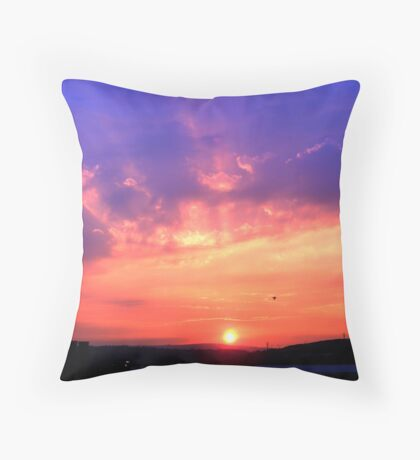 South Yorkshire Sunset Throw Pillow