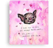 Valentine Bat  Canvas Print