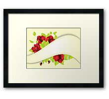 Red roses and ribbon Framed Print