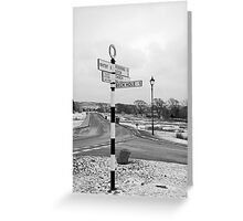 Pointing the Way, Goathland Signpost Greeting Card