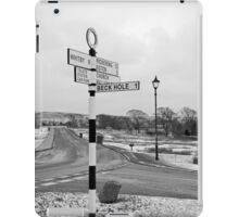 Pointing the Way, Goathland Signpost iPad Case/Skin